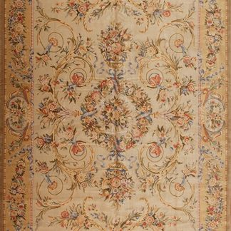 12' x 18' Oversize Hand-knotted Thick and Plush Wool French Savonnerie Rug