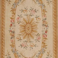 4' x 12' Hand-knotted Thick and Plush Wool French Savonnerie Runner Rug