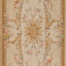 5' x 15' Hand-knotted Thick and Plush Wool French Savonnerie Runner Rug