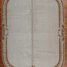 9' x 12' Hand-knotted Thick and Plush Wool French Savonnerie Oval Rug