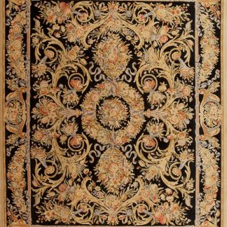8' x 10' Hand-knotted Thick and Plush Wool French Savonnerie Rug