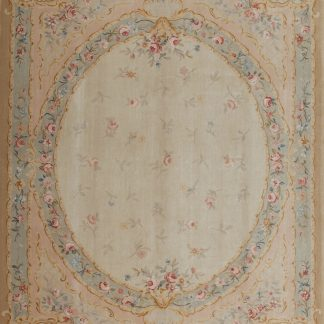 9' x 12' Hand-knotted Thick and Plush Wool French Savonnerie Rug