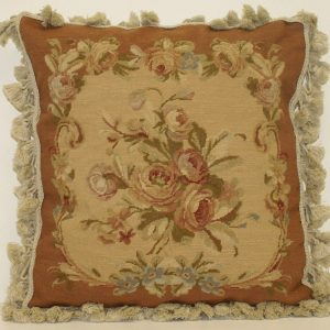 "18"" x 18"" Handmade Wool Needlepoint Petit Point Cushion Cover Pillow Case"