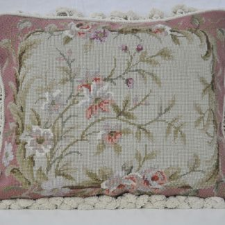 "16"" x 20"" Handmade Wool Needlepoint Cushion Cover Pillow Case"