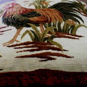 "26"" x 26"" Handmade Wool Needlepoint Rooster Cushion Cover Pillow Case"