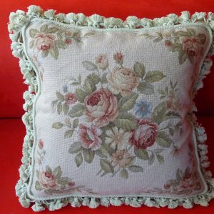 "16"" x 16"" Handmade Wool Needlepoint Petit Point Cushion Cover Pillow Case"
