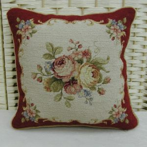 "12"" x 12"" Handmade Wool Needlepoint Petit Point Cushion Cover Pillow Case"