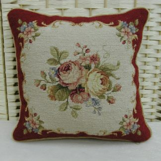 """12"""" x 12"""" Handmade Wool Needlepoint Petit Point Cushion Cover Pillow Case"""