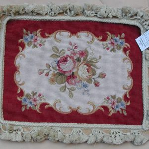 "12"" x 16"" Handmade Wool Needlepoint Petit Point Cushion Cover Pillow Case"