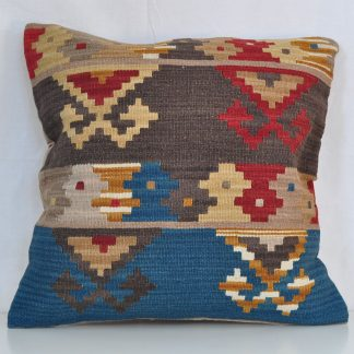 "24"" x 24"" Hand-woven Wool Kelim Cushion Cover Pillow Case"
