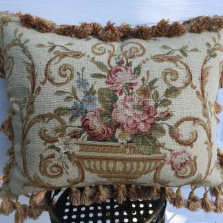 "16"" x 20"" Handmade Wool Needlepoint Petit Point Cushion Cover Pillow Case"