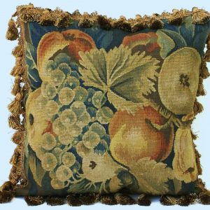 "18"" x 18"" Handmade French Gobelin Tapestry Weave Wool Aubusson Cushion Cover Pillow Case"