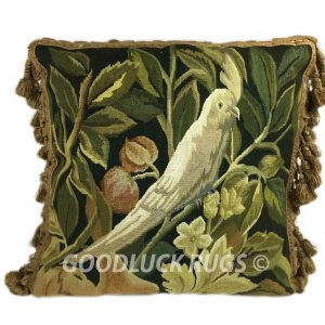 "18"" x 18"" Handmade Parrot French Gobelin Tapestry Weave Wool Aubusson Cushion Cover Pillow Case (Copy)"