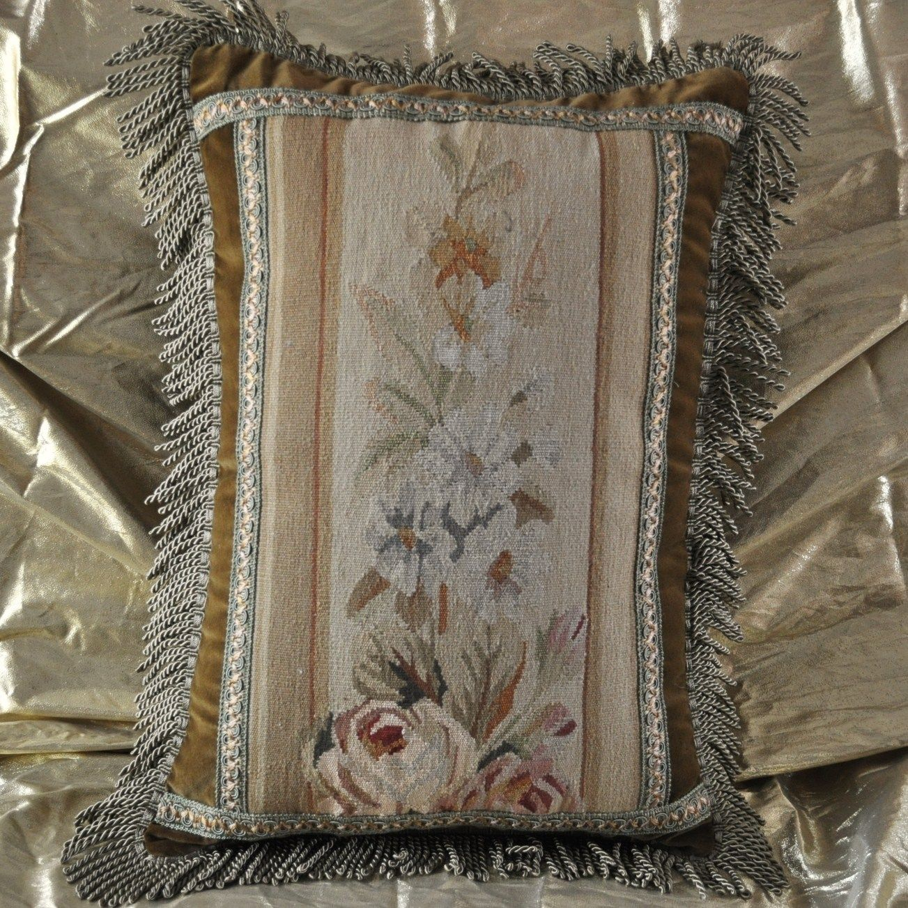 16″x22″ Handmade Gobelin Tapestry Weave Wool Aubusson Pillow Case Cushion Cover