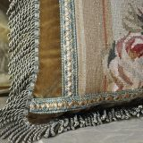 """16""""x22"""" Handmade Gobelin Tapestry Weave Wool Aubusson Pillow Case Cushion Cover"""