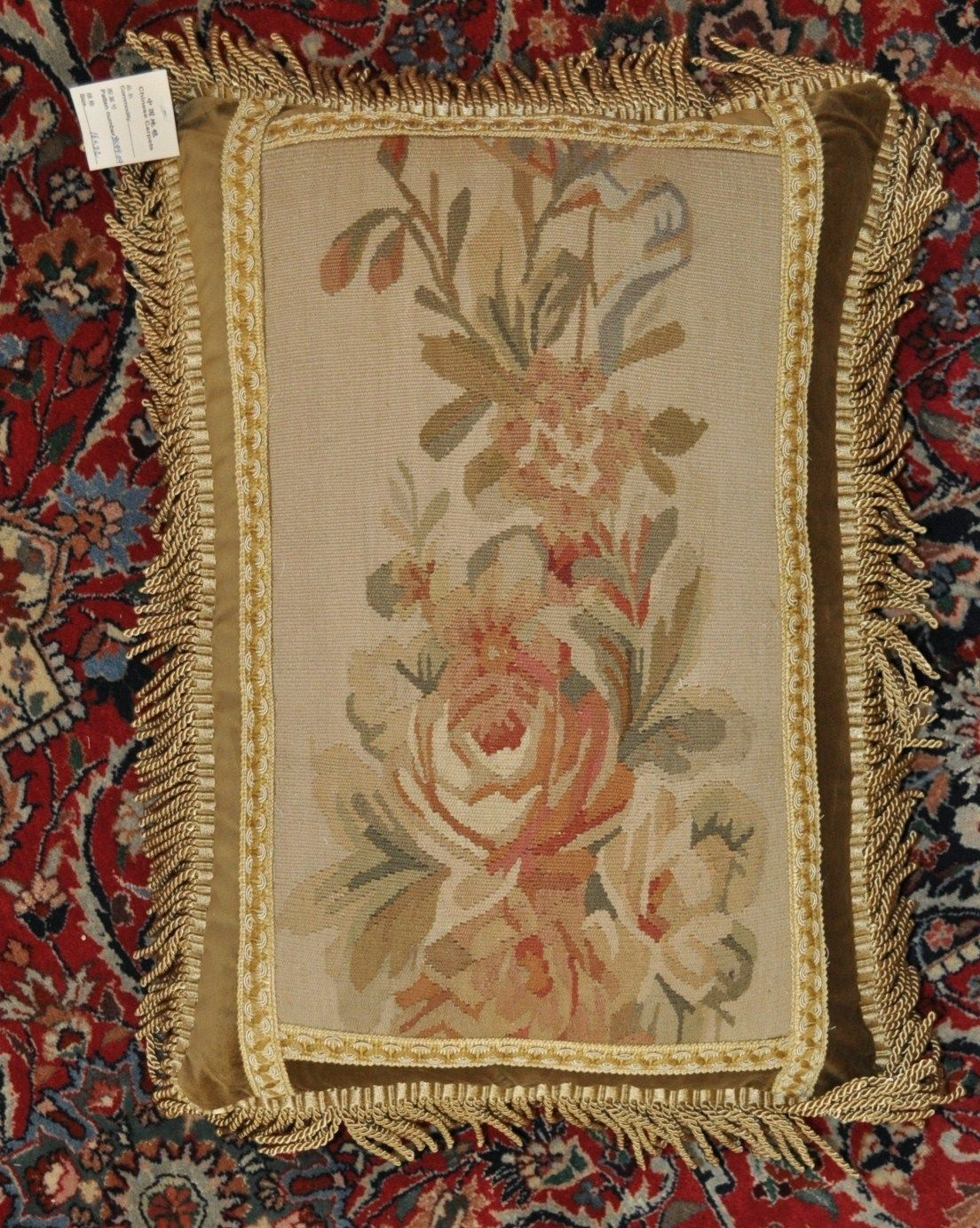 "16""x22"" Handmade Gobelin Tapestry Weave Wool Aubusson Pillow Case Cushion Cover"