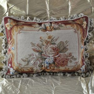 "18"" x 24"" Handmade Gobelin Tapestry Weave Wool Aubusson Pillow Case Cushion Cover"