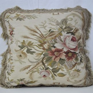 "18"" x 18"" Handmade French Gobelins Tapestry Weave Wool Aubusson Cushion Pillow Cover"