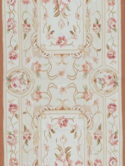 "2'6"" x 8' Hand-woven Wool French Aubusson Runner Rug"