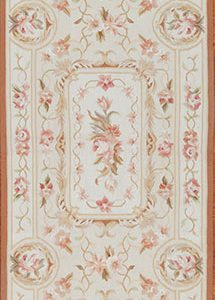 "2'6"" x 10' Hand-woven Wool French Aubusson Runner Rug"