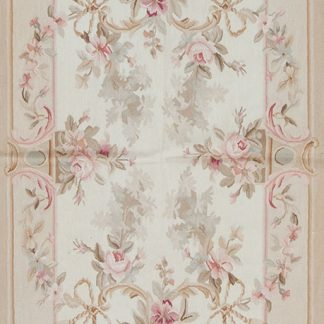 3' x 5' Hand-woven Wool French Aubusson Rug