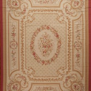 12' x 15' Hand-woven Wool French Aubusson Oversize Rug