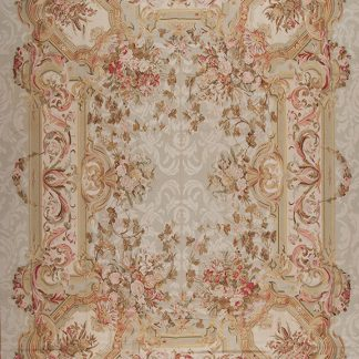 12' x 16' Hand-woven Wool French Aubusson Oversize Rug