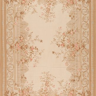 "12' x 18'6"" Hand-woven Wool French Aubusson Oversize Rug"