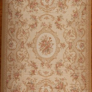 "12' x 15'6"" Hand-woven Wool French Aubusson Oversize Rug"