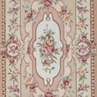 "2'3"" x 4'6"" Hand-woven Wool French Aubusson Rug"