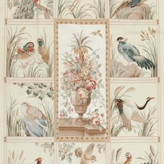 "5' x 7'6"" Hand-woven Bird Pheasant Wool French Aubusson Tapestry Rug"