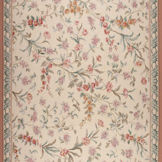 "14'3"" x 20'3"" Hand-woven Wool French Aubusson Oversize Rug"