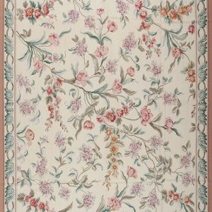 "10'3"" x 14'3"" Hand-woven Wool French Aubusson Rug"