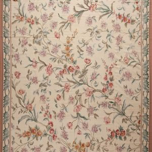 "12'3"" x 15'3"" Hand-woven Wool French Aubusson Oversize Rug"
