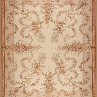"16'3"" x 19'3"" Hand-woven Wool French Aubusson Oversize Rug"