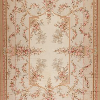 "12'3"" x 18'3"" Hand-woven Wool French Aubusson Oversize Rug"