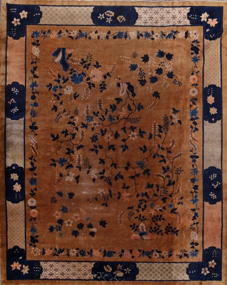 10 X 12 6 Hand Knotted Antique Wool Chinese Art Deco Nichols Rug
