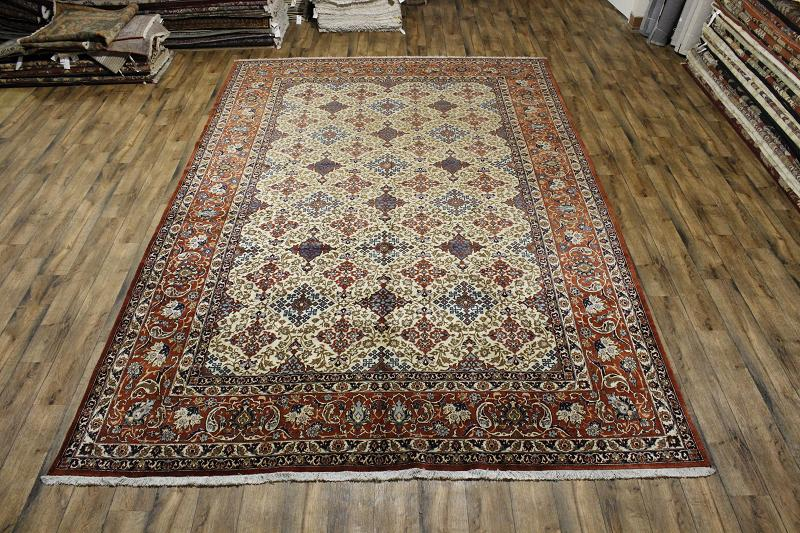 10'6 x 15'8 Palace Sized Hand-knotted Vegetable Dye Persian Isfahan Oriental Area Rug 12980456 (1)
