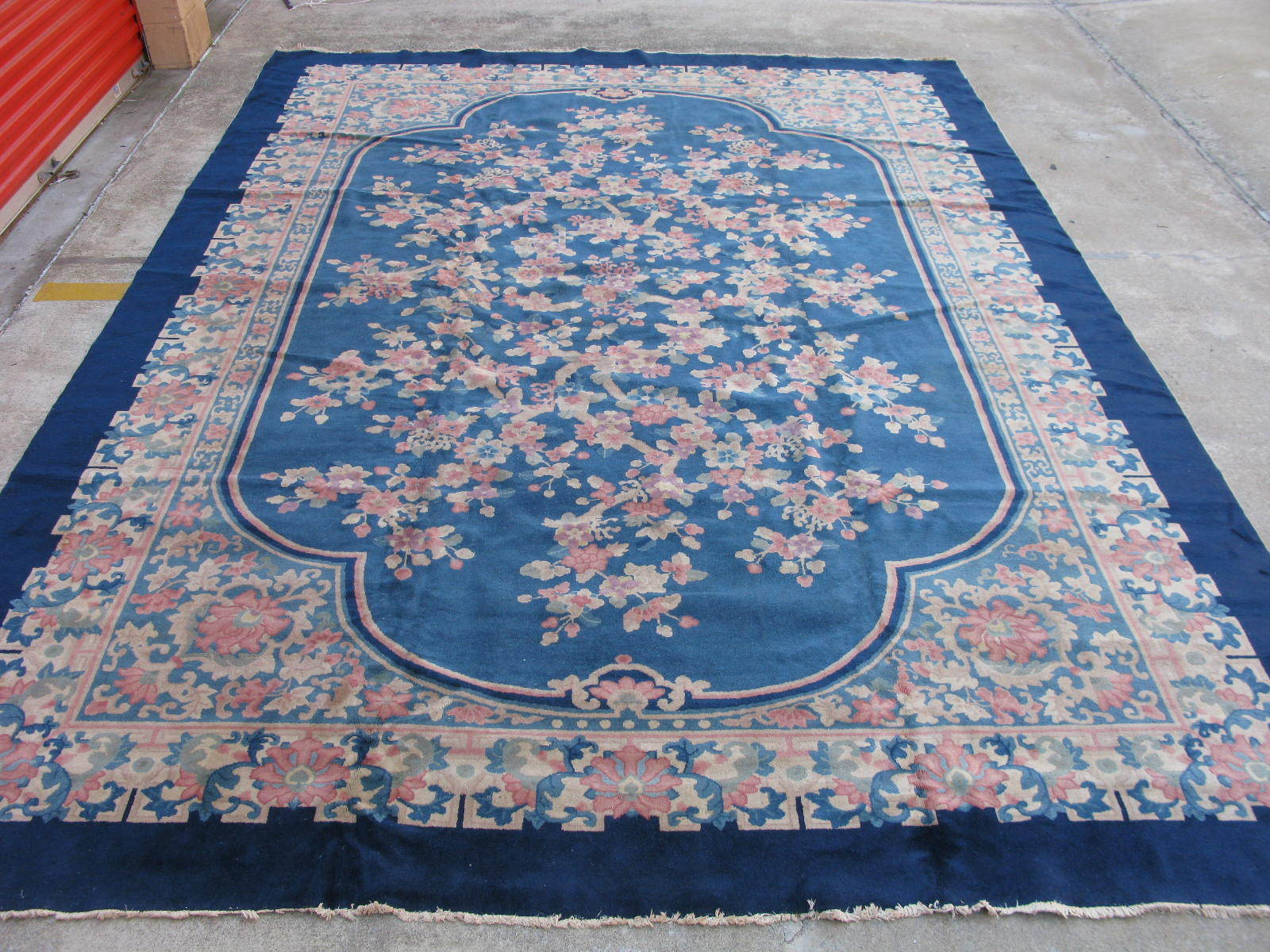 Chinese Hand Knotted Wool Rugs.11 X 15 8 Palace Size Hand Knotted Wool Antique Chinese Art Deco Fette Blue Rug 12980485