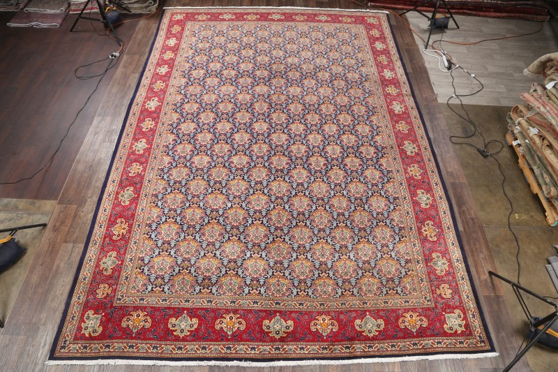 11'2 x 16'8 Hand-knotted Palace Sized Navy Persian Tabriz Oriental Area Rug 12980457 (1)