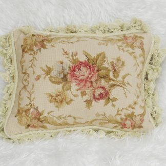 "12"" x 16"" Handmade Wool Needlepoint Petit Point Cushion Cover Pillow Case 12980419"