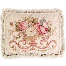 12x16 Handmade Wool Needlepoint Petit Point Rose Bouquet Cushion Cover Pillow Case 12980424