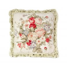16″x16″ Handmade Wool Needlepoint Petit Point Floral Roses Cushion Cover Pillow Case 12980423