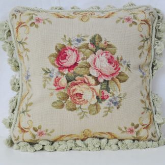 16 x 16 Handmade Wool Needlepoint Petit Point Cushion Cover Pillow Case 12980415