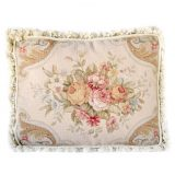 """16""""x20"""" Handmade Wool Needlepoint Pettipoint Floral Rose Bouquet Cushion Cover Pillow Case 12980414"""