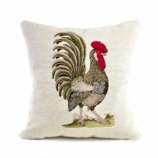 "18""x18"" Handmade Wool Needlepoint Petit Point French Country Rooster Cushion Cover Pillow Case 12980436"