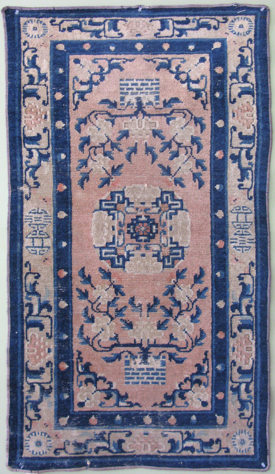 2'8 x 4'9 Hand-knotted Wool Antique Chinese Art Deco Ningxia Ninghsia 19thC Qing Dynasty Rug 12980490 (1)
