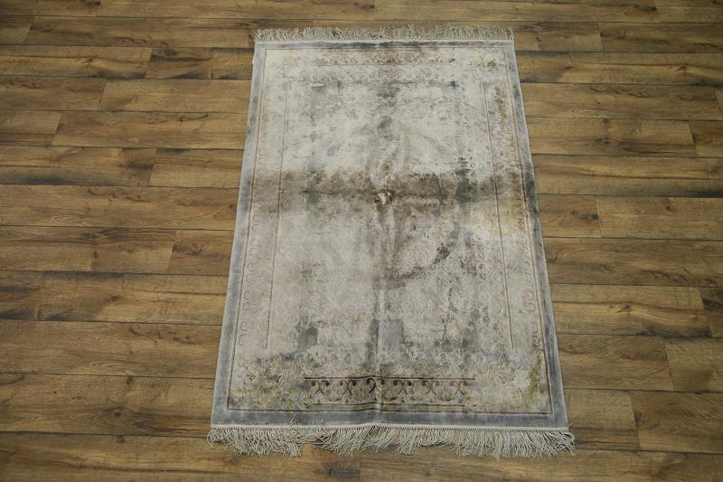 3'11 x 6′ Hand-knotted Silk Antique Chinese Art Deco Nichols Rug 12980511 (1)