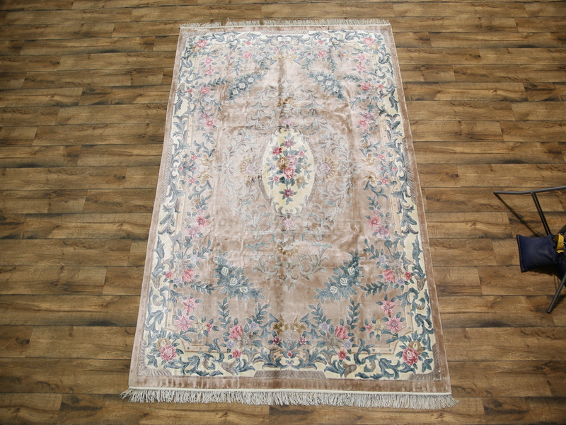 7′ x 10'1 Hand-knotted Carved Silk Semi-Antique Chinese Art Deco Peking Rug 12980518 (1)