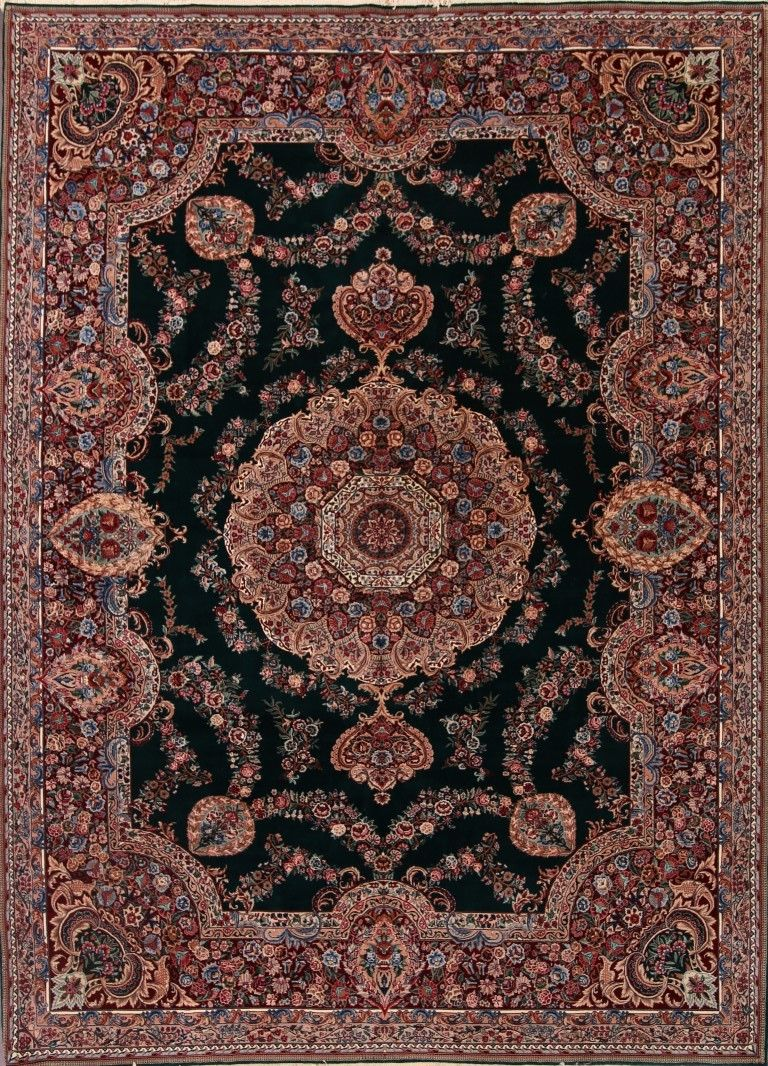 8 10 X 11 8 Hand Knotted Emerald Green Aubusson Oriental Area Rug 12980441 Goodluck Rugs